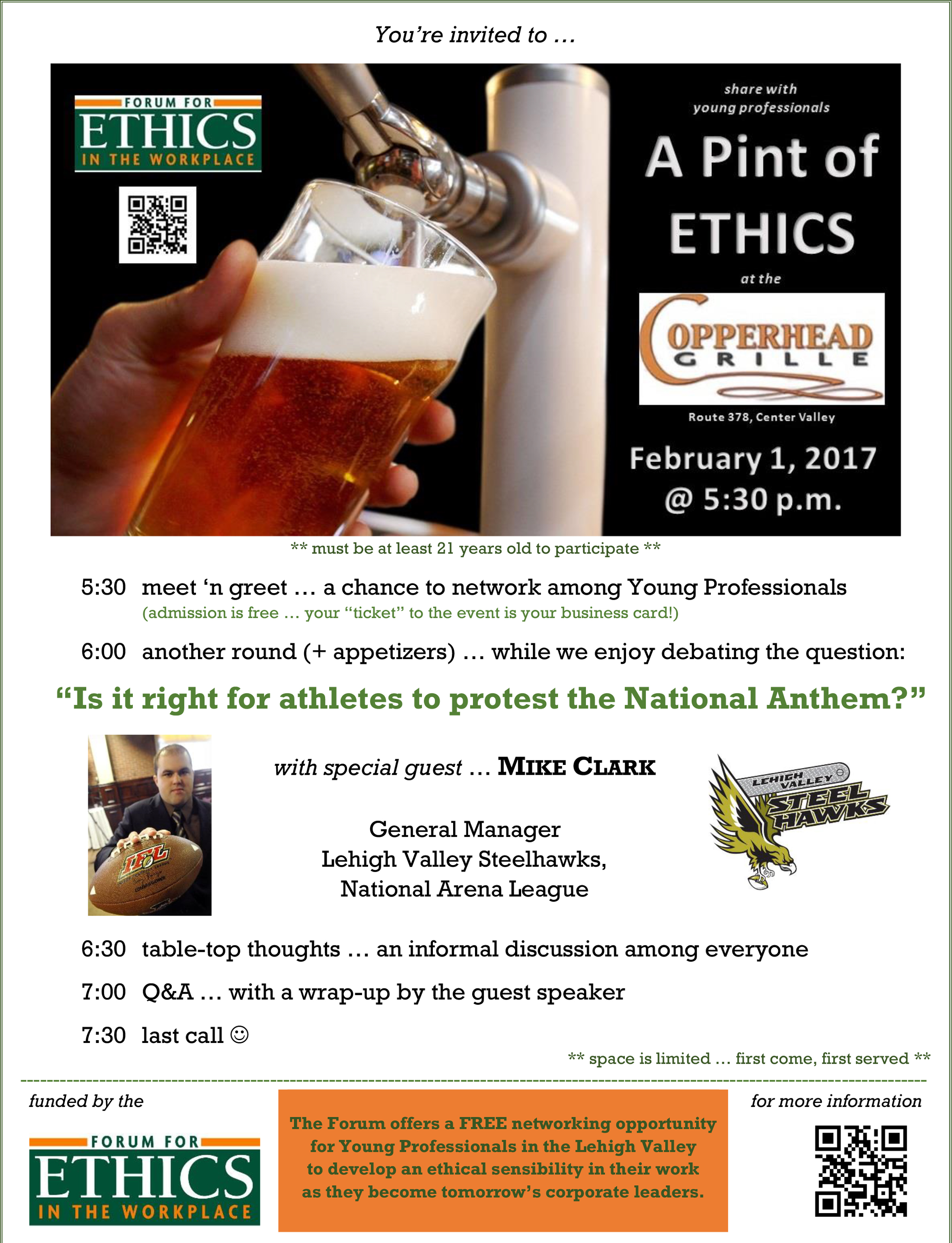 A Pint of Ethics - A Young Professionals Discussion